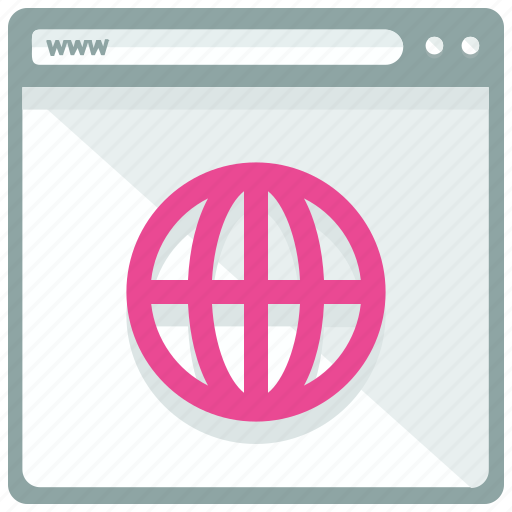 browser, global, international, internet, web, webpage, website icon