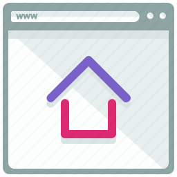 browser, home, interface, page, website icon