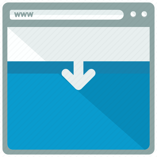 arrow, browser, move, page, website icon