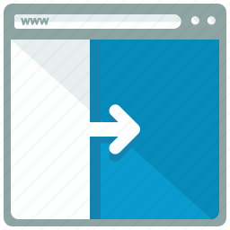 arrow, browser, move, right, web, webpage, website icon