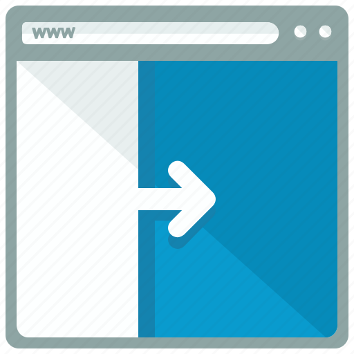 browser, interface, layout, move, website icon