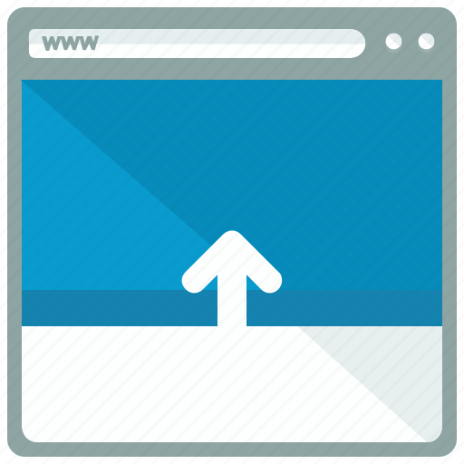 arrow, browser, move, up, web, webpage, website icon