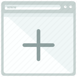 add, browser, new, plus, web, webpage, website icon