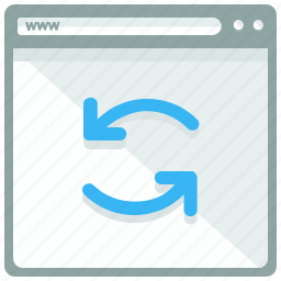 browser, page, refresh, reload, website icon