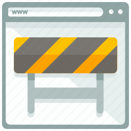 browser, construction, page, website icon
