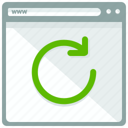 browser, page, reload, rotate, website icon