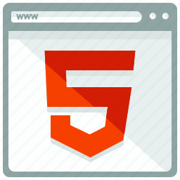 browser, html 5, interface, website icon