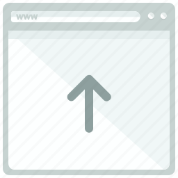 arrow, browser, up, upload, web, webpage, website icon
