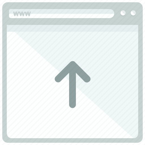 arrow, browser, upload, website icon