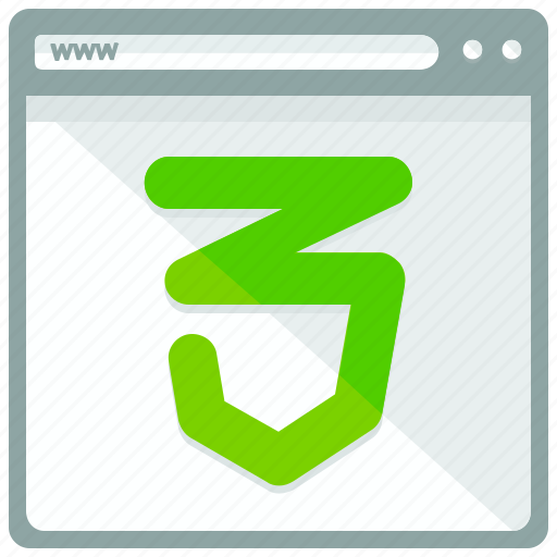 browser, css 3, interface, website icon