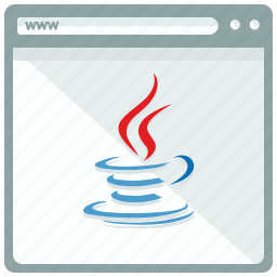 browser, interface, java, page, website icon
