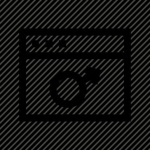 browser, male, website, www icon