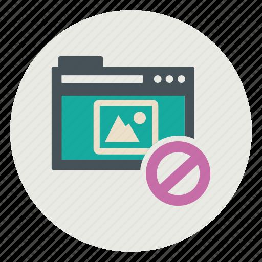 blockimage, content, web icon
