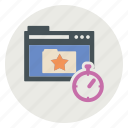 bookmark, page, tab, timer icon