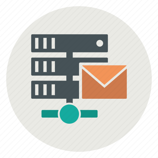 attachment, database, email, message, server icon