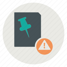 alert, document, file, text icon
