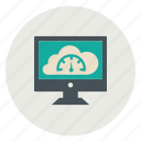 cloud, pc, performance, productivity, speed, speedometer icon