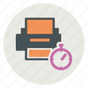 print, printer, track, tracking icon