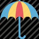 canopy, parasol, sun protection, sunshade icon
