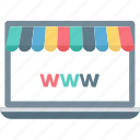 online ecommerce, online marketplace, online shopping, shopping site icon