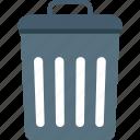 dustbin, garbage can, recycle bin, trash bin icon