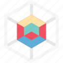 box, cubic shape, geometrical, graphic icon