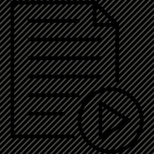 content, document, file, script, video marketing icon