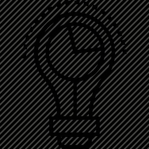bulb, idea, innovation, marketing idea, solution icon