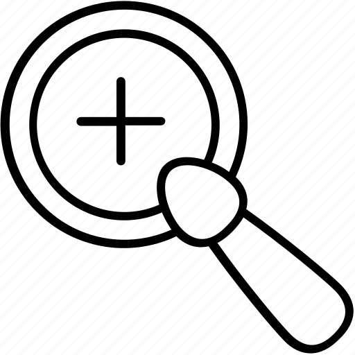 loupe, magnifier, searching, zoom, zoom tool icon