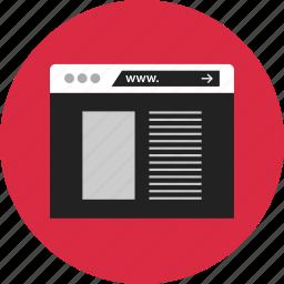 browser, design, mockup, page, web icon