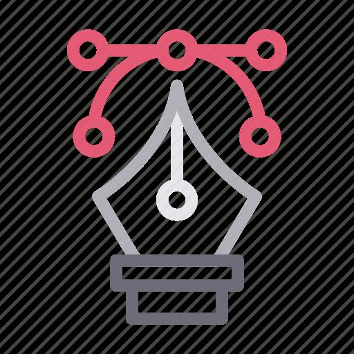 bezier, curve, design, illustration, vector icon