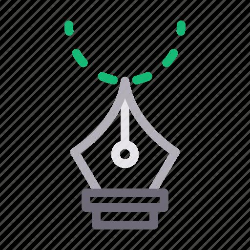 bezier, curve, design, graphic, pen icon