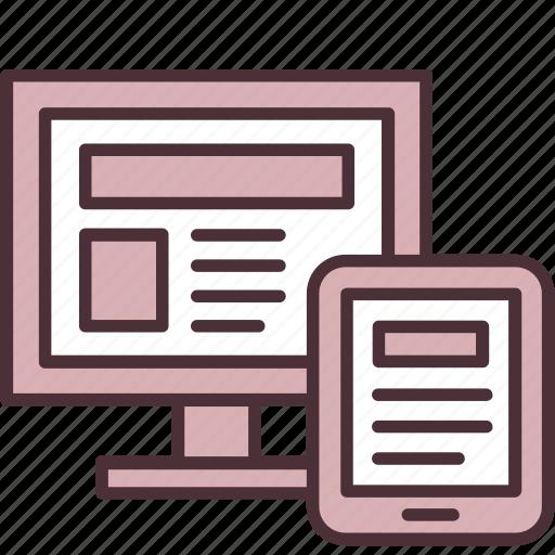 adaptive, design, graphic, mobile, optimization, responsive, webpage icon