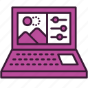 computer, digital, edit, graphics, image, photo, settings icon