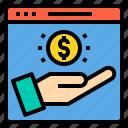 browser, computing, interface, internet, profit, ui, website icon