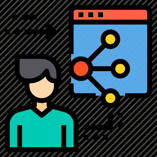 administrator, browser, computing, interface, internet, ui, web icon