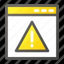 alert, browser, interface, programming, virus, web icon