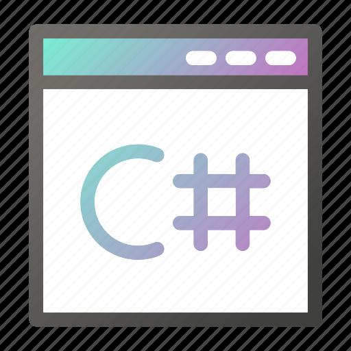 browser, c, interface, programming, user, web icon