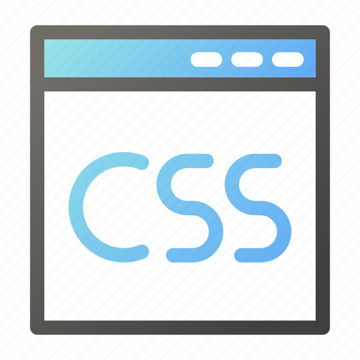 browser, css, interface, programming, web icon