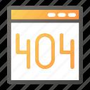 browser, error, interface, programming, web icon