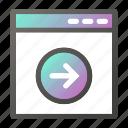 browser, interface, next, programming, web icon
