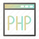 browser, interface, php, programming, web icon