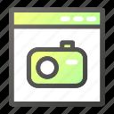 browser, interface, photo, programming, web icon