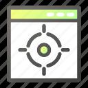 browser, interface, programming, target, web icon