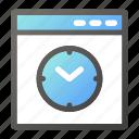 browser, interface, programming, timer, web icon