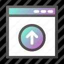 browser, interface, programming, upload, web icon