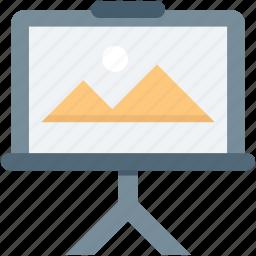 image, landscape, photo, photograph, tripod icon