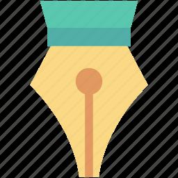 fountain pen, pen nib, pen tip, pen tool, writing icon