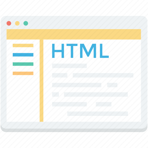 html, html coding, programming, source code, web development icon