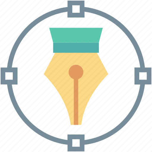 anchor points, bezier, bezier tool, metrize, pen tool icon